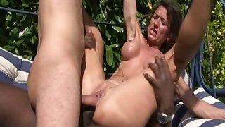 Tread pornstars Bella Morgan, Alice Black and Joyce Lima in fabulous anal, facial adult coupler