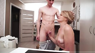 Son made his stepmother to have a go intercourse anent him