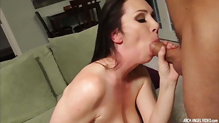 Hot busty MILF squirting added to getting a hard fucking