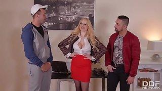 Buxom MILF Angel Wicky - Gangbang Video