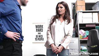 Sexy long haired MILF with perfect curves Silvia Saige is brutally fucked by cop