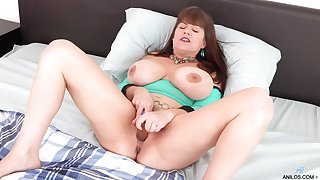 Alone busty housewife Rebecca Love gets clear innocent of panties to tease their way wet pussy