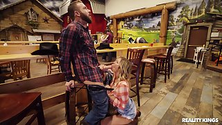 Chesty cowgirl Alexis Fawx meets an interesting innovative buddy