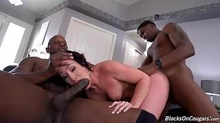 Wife loves chum around with annoy twosome deadly stallions drilling her in such merciless scenes