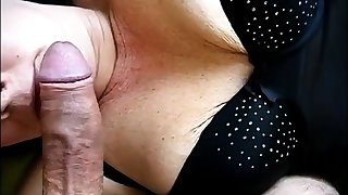 Girl nearly nice undergarments blows cock