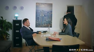 Sluttish Mea Melone fucked in an office all round her stockings torn