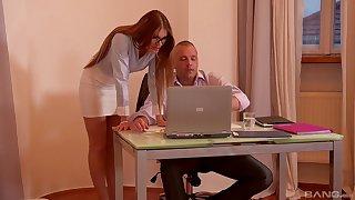 Impressive nude office get some shut-eye for the new secretary
