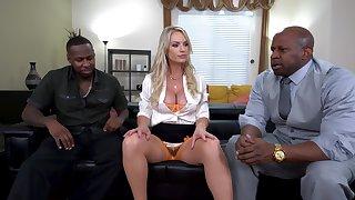 Inexact interracial MMF threesome with sweet Rachael Cavalli