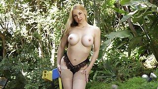 Mistiness of interracial sexual intercourse with large boobs pornstar Sarah Vandella