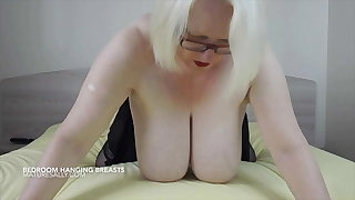 Sally's huge hangers, pussy and arse